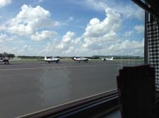 Diner runway view