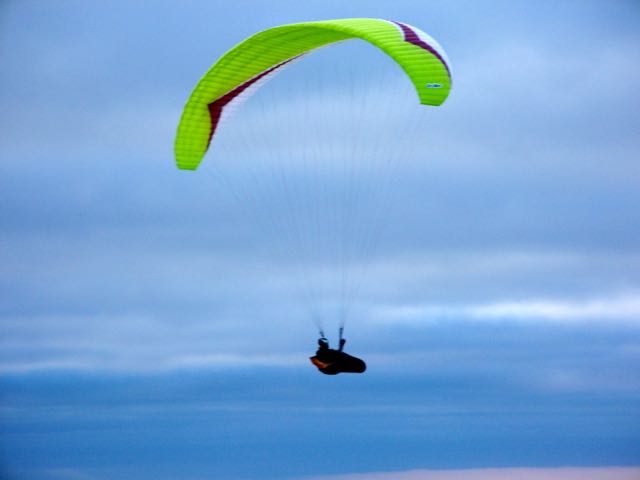 Yellow Paraglider