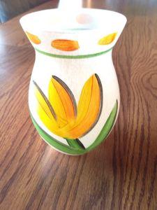 Yellow Kosta-Boda Tulipa vase