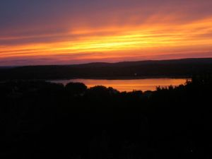 Sunset Lake Reflection