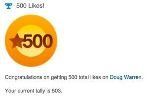 500 Likes - Large