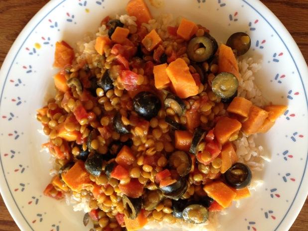 Sweet Potato, Lentil and CoconutCurry